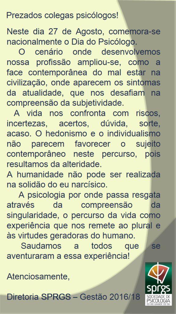DIA DO PSICOLOGO