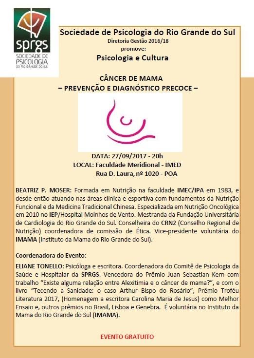 PSICOLOGIA E CULTURA DE SETEMBRO-2017