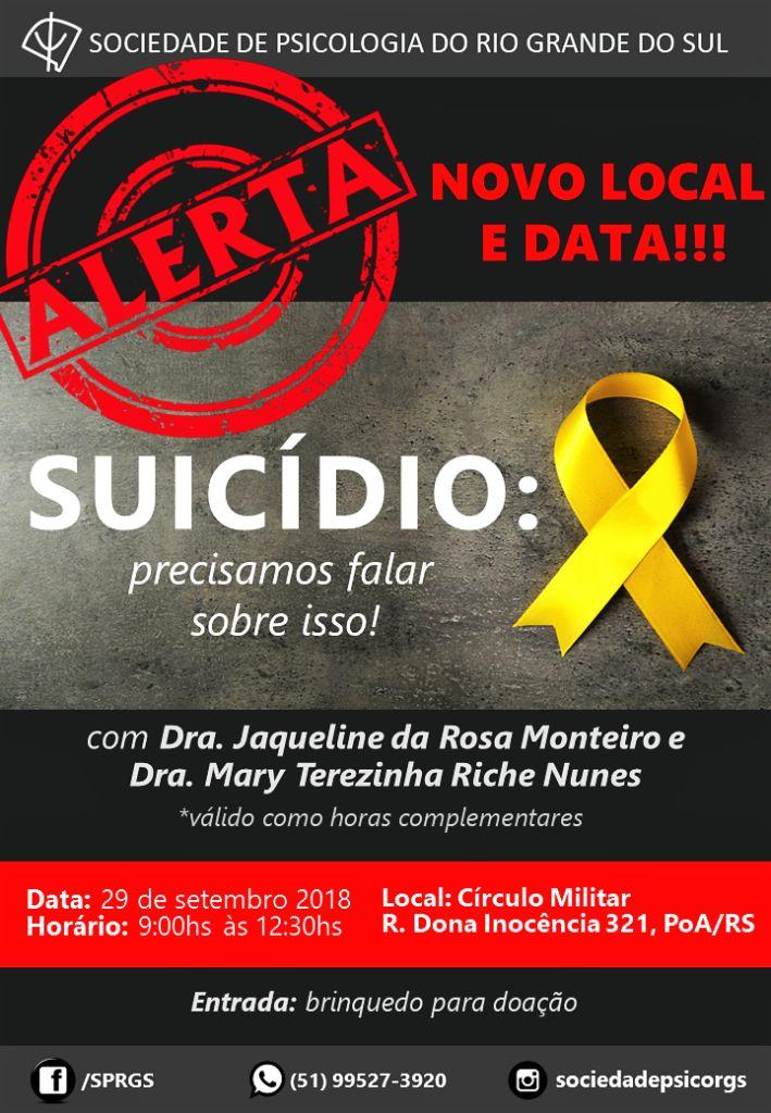 PALESTRA SUICÍDIO